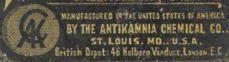 Antikamnia Chemical Co.