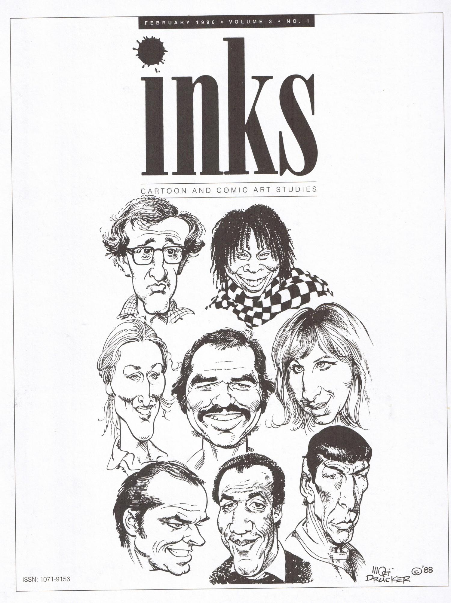 Inks-Cartoon and Comic art studies #1 • USA