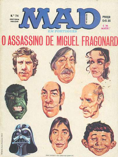 MAD Magazine #74 • Brasil • 1st Edition - Veechi