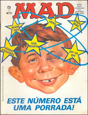 MAD Magazine #21 • Brasil • 2nd Edition - Record