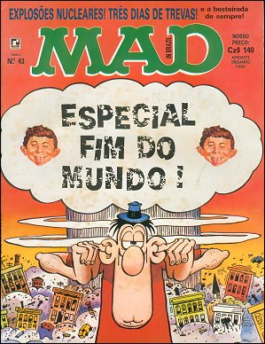 MAD Magazine #43 • Brasil • 2nd Edition - Record