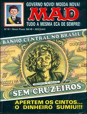 MAD Magazine #62 • Brasil • 2nd Edition - Record