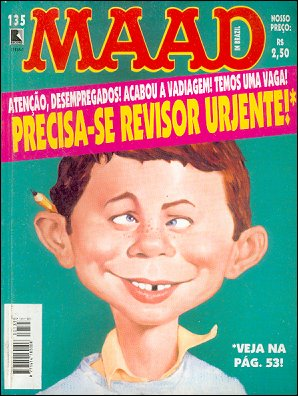 MAD Magazine #135 • Brasil • 2nd Edition - Record