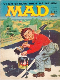 Go to MAD Magazine #1 1965 • Denmark • 1st Edition - Williams