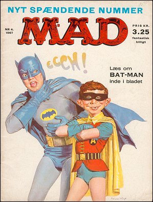 MAD Magazine #4 1966 • Denmark • 1st Edition - Williams