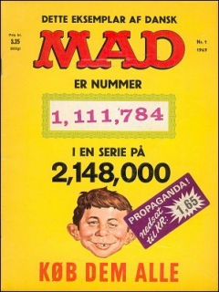 Go to MAD Magazine #1 1968 • Denmark • 1st Edition - Williams