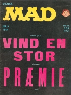 Go to MAD Magazine #9 1968 • Denmark • 1st Edition - Williams