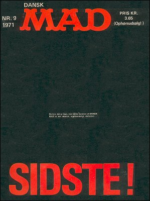 MAD Magazine #9 1970 • Denmark • 1st Edition - Williams