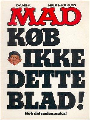 MAD Magazine #21 • Denmark • 2nd Edition - Semic