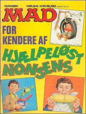 MAD Magazine #54 • Denmark • 2nd Edition - Semic