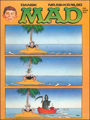 MAD Magazine #58 • Denmark • 2nd Edition - Semic