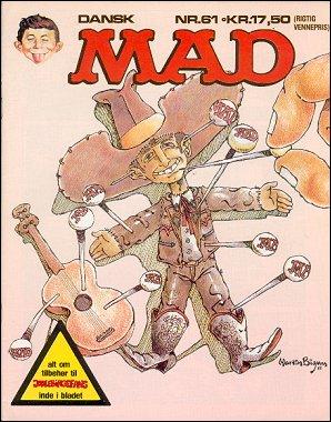 MAD Magazine #61 • Denmark • 2nd Edition - Semic