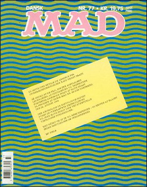 MAD Magazine #77 • Denmark • 2nd Edition - Semic