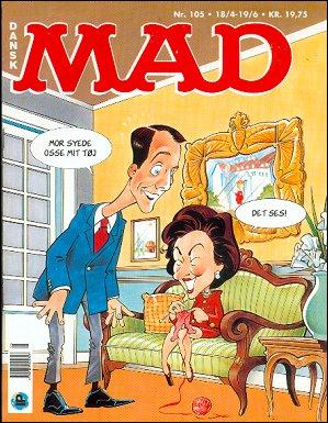 MAD Magazine #105 • Denmark • 2nd Edition - Semic