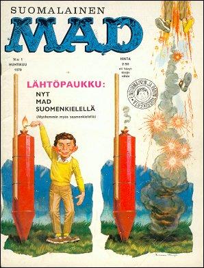 MAD Magazine #1 1969 • Finland • 1st Edition - Suomalainen