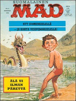 MAD Magazine #4 • Finland • 1st Edition - Suomalainen
