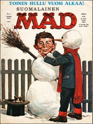 MAD Magazine #1 • Finland • 1st Edition - Suomalainen