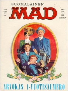 Go to MAD Magazine #13 • Finland • 1st Edition - Suomalainen