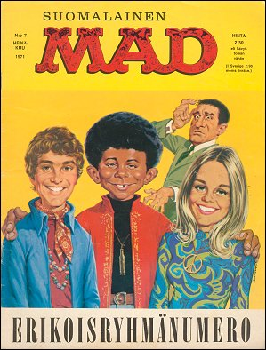 MAD Magazine #7 1970 • Finland • 1st Edition - Suomalainen