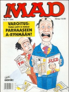 Go to MAD Magazine #87 • Finland • 2nd Edition - Semic