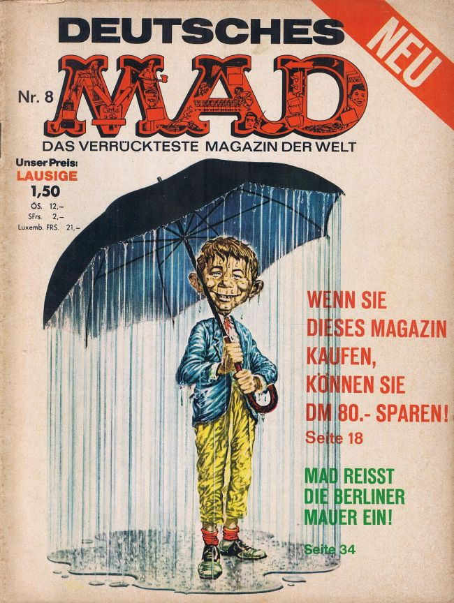 MAD Magazine #8 • Germany • 1st Edition - Williams