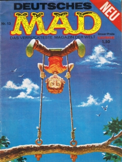 Go to MAD Magazine #13 • Germany • 1st Edition - Williams