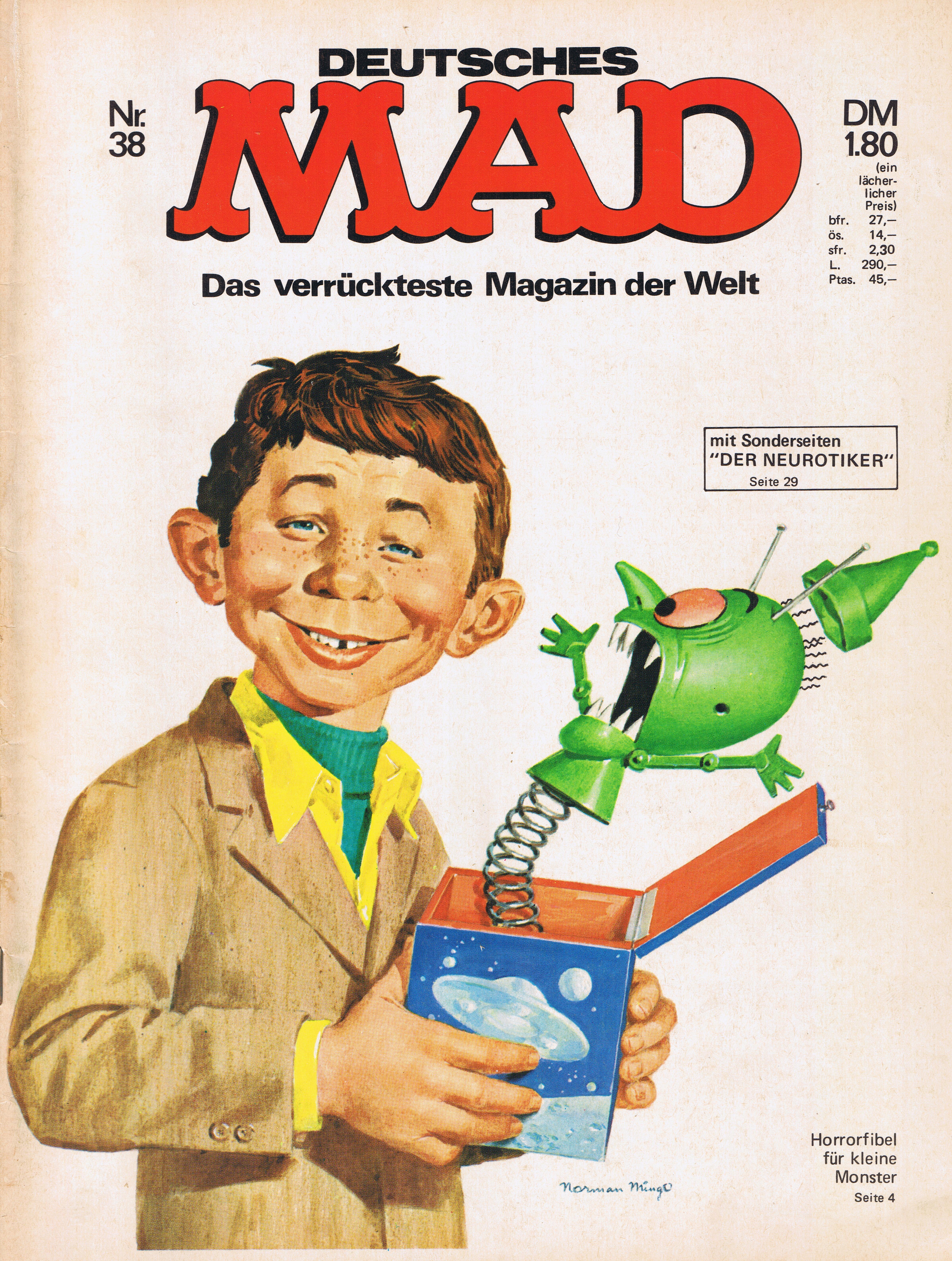MAD Magazine #38 • Germany • 1st Edition - Williams
