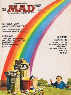 Go to MAD Magazine #43 • Germany • 1st Edition - Williams