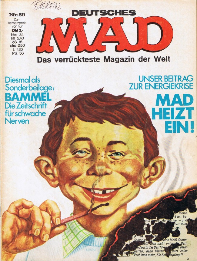 MAD Magazine #59 • Germany • 1st Edition - Williams