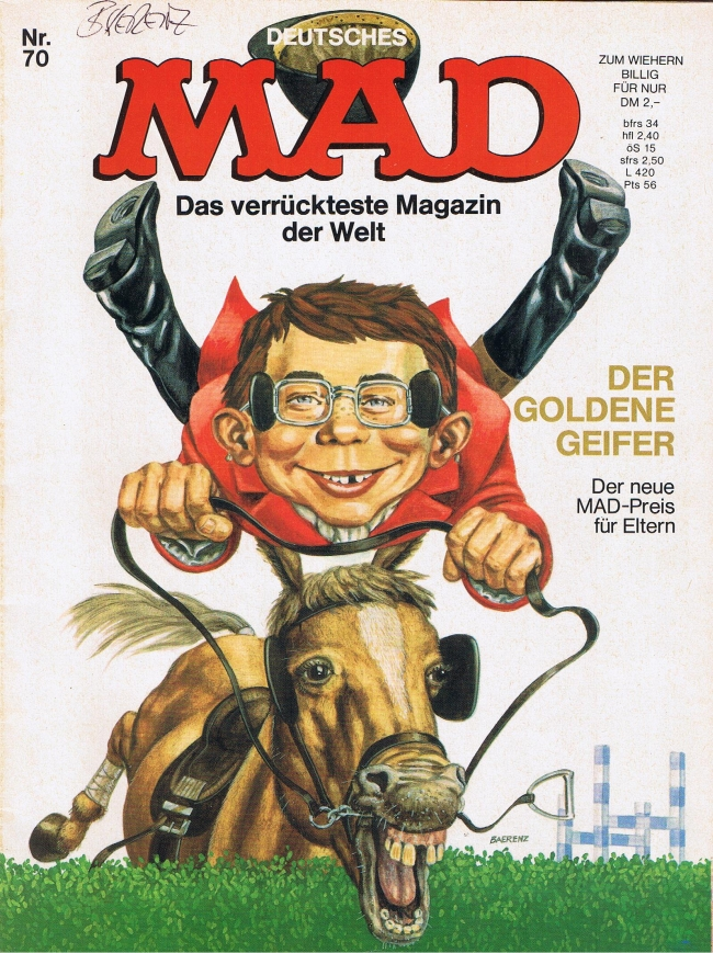 MAD Magazine #70 • Germany • 1st Edition - Williams