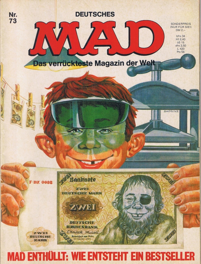MAD Magazine #73 • Germany • 1st Edition - Williams