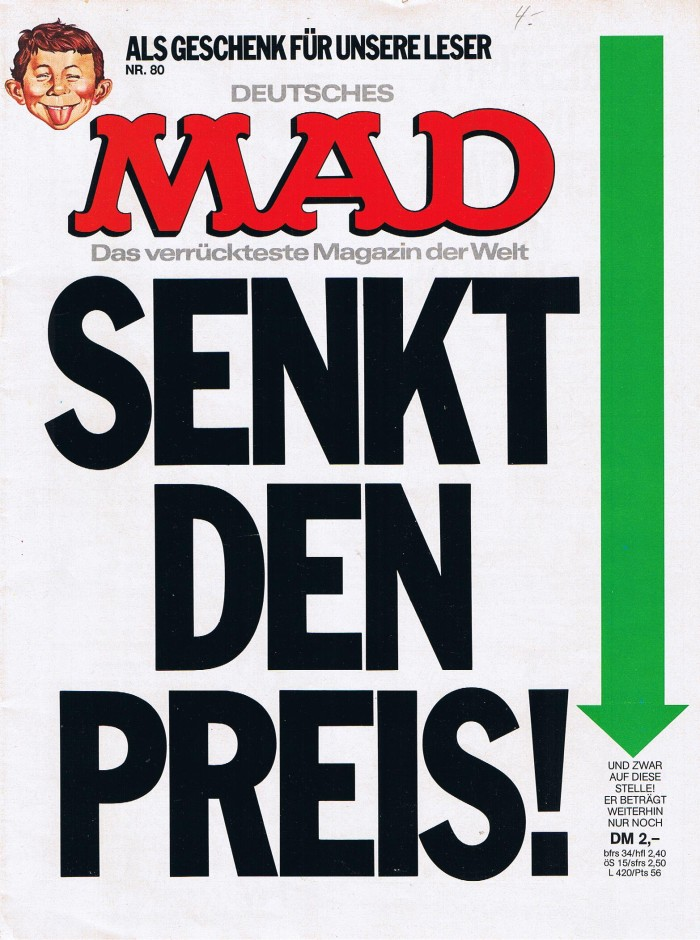 MAD Magazine #80 • Germany • 1st Edition - Williams