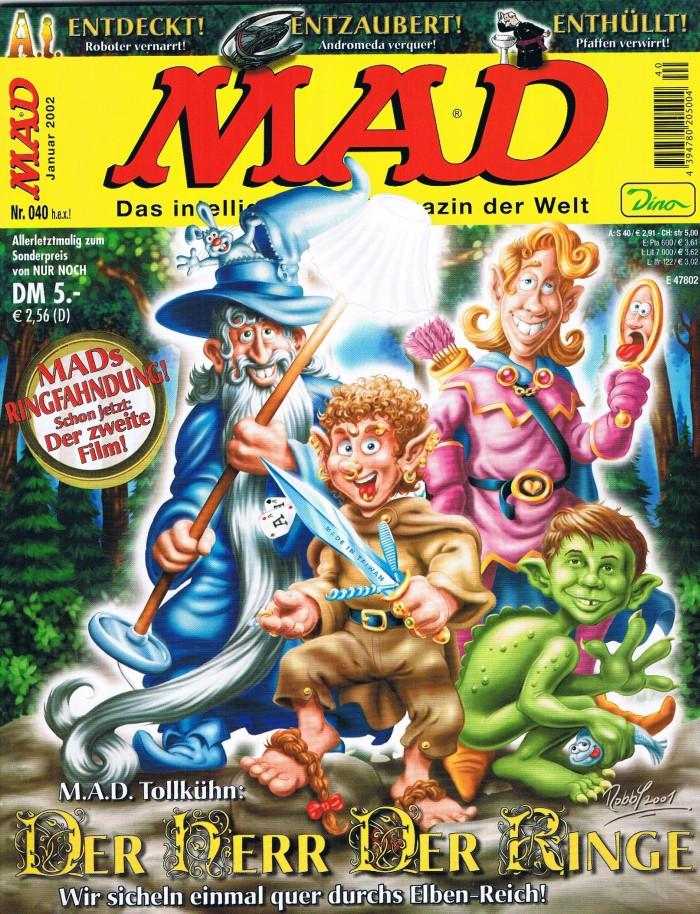 MAD Magazine #40 • Germany • 2nd Edition - Dino/Panini