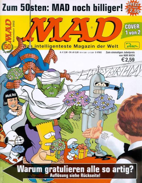 MAD Magazine #50 • Germany • 2nd Edition - Dino/Panini