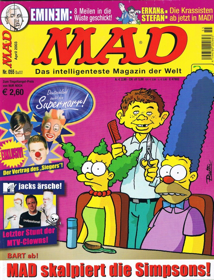 MAD Magazine #55 • Germany • 2nd Edition - Dino/Panini