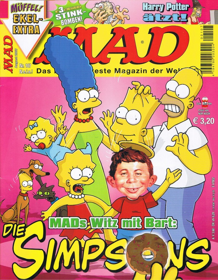 MAD Magazine #107 • Germany • 2nd Edition - Dino/Panini