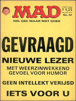 MAD Magazine #22 • Netherlands • 1st Edition