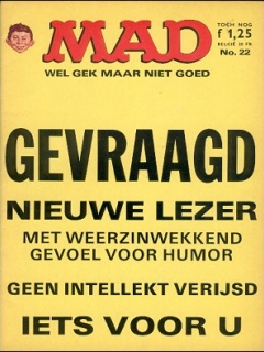 Go to MAD Magazine #22 • Netherlands • 1st Edition