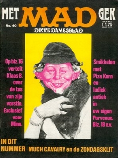 Go to MAD Magazine #40 • Netherlands • 1st Edition