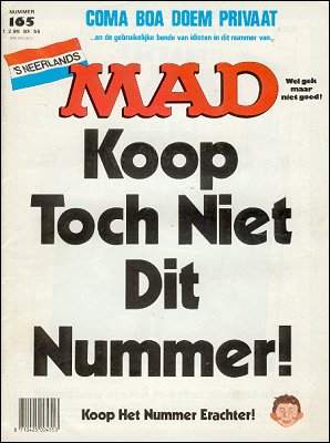 MAD Magazine #165 • Netherlands • 1st Edition