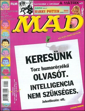 MAD Magazine #23 • Hungary • 2nd Edition - MAD