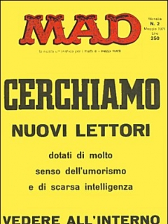 Go to MAD Magazine #2 • Italy • 1st Edition