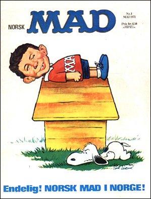 MAD Magazine #1 1970 • Norway • 1st Edition - Williams
