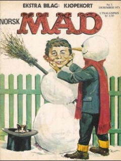 Go to MAD Magazine #5 1970 • Norway • 1st Edition - Williams
