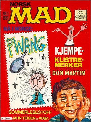 MAD Magazine #1 • Norway • 2nd Edition - Semic