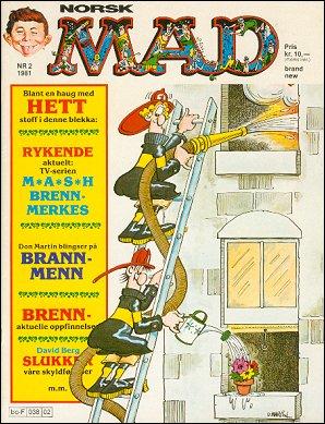 MAD Magazine #2 • Norway • 2nd Edition - Semic