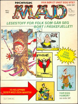 MAD Magazine #6 • Norway • 2nd Edition - Semic