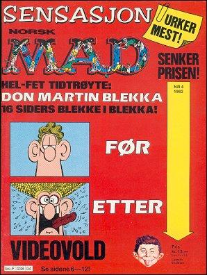 MAD Magazine #8 • Norway • 2nd Edition - Semic