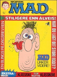 Go to MAD Magazine #7 1981 • Norway • 2nd Edition - Semic