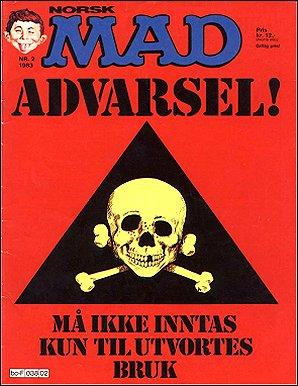 MAD Magazine #14 • Norway • 2nd Edition - Semic